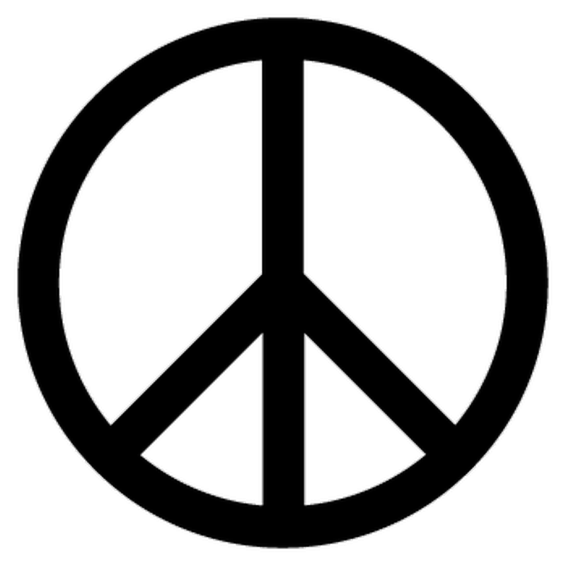 Autocollant Peace Amp Love Logo