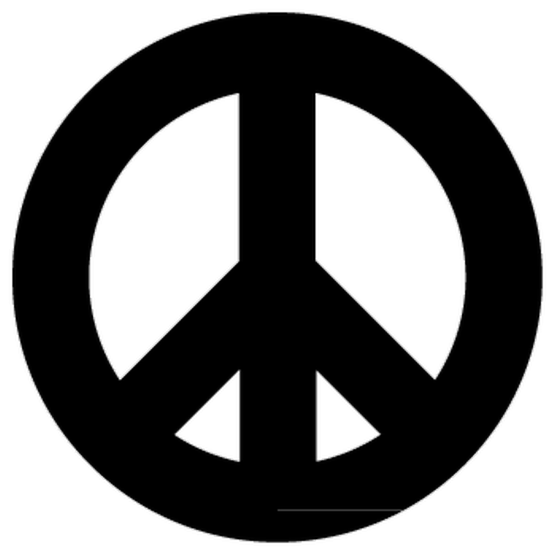 VW Peace and love logo Decal  - 2