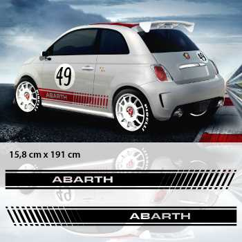 kit stickers bandes portieres auto fiat abarth. Black Bedroom Furniture Sets. Home Design Ideas