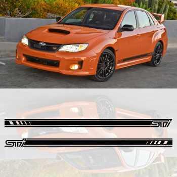 Subaru STI 2013 car side stripes decals set
