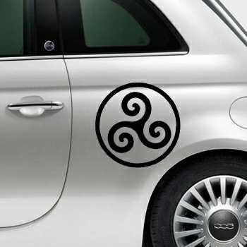 Sticker Fiat 500 Triskel Breton logo