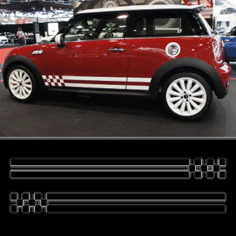 Mini Cooper Monte Carlo Stripes Decals Set Of 2 Stripes