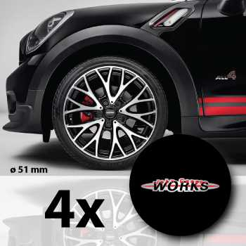 kit stickers jantes mini john cooper works. Black Bedroom Furniture Sets. Home Design Ideas