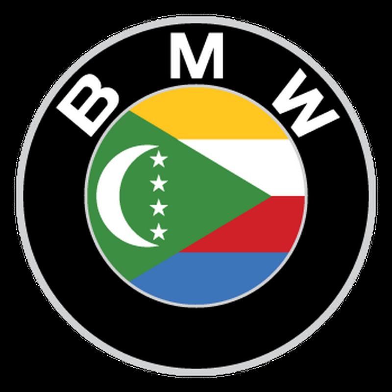 BMW logo Comoros flag Decal