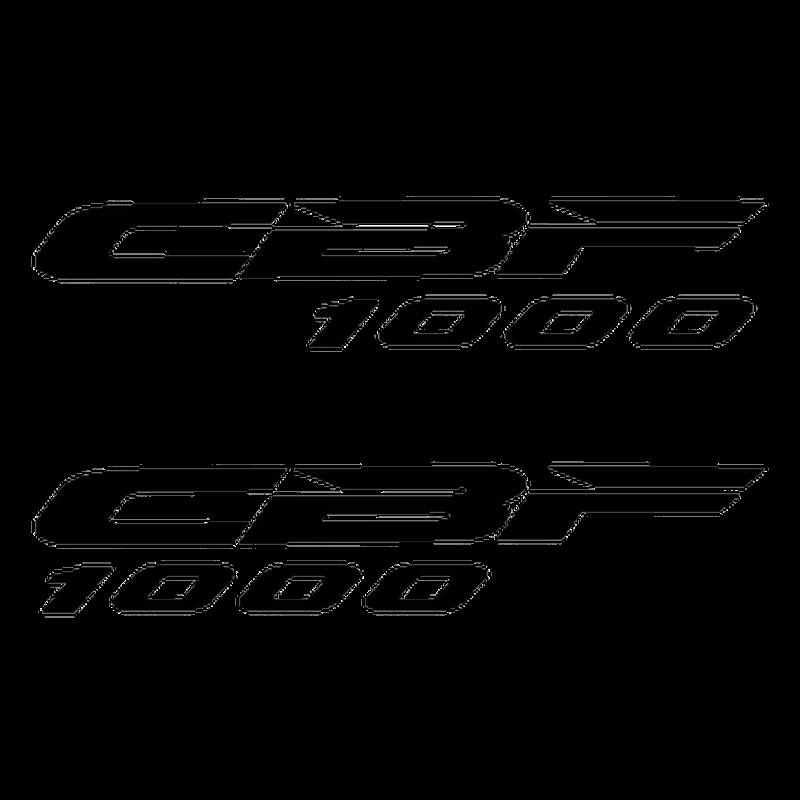 kit stickers honda cbf 1000 logo. Black Bedroom Furniture Sets. Home Design Ideas