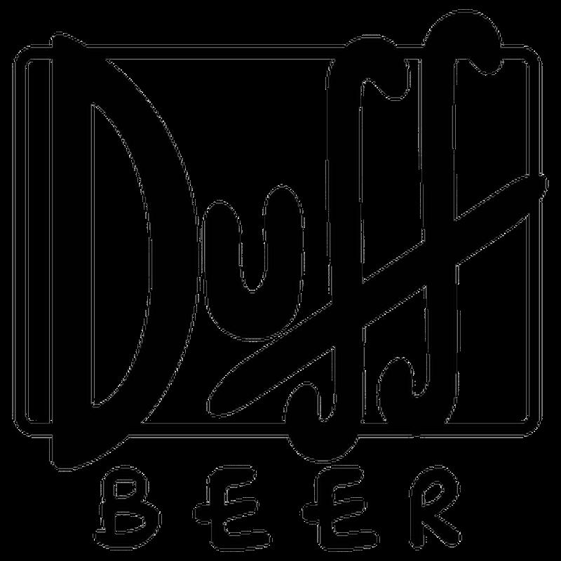 Duff Beer logo Decal