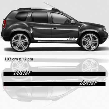 Car side Dacia Duster stripes stickers set