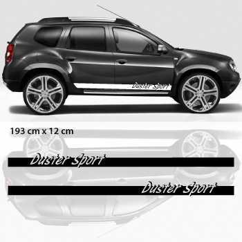 Car side Dacia Duster Sport stripes stickers set