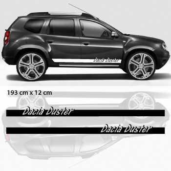 Kit Stickers Bande Seitenleiste auto Dacia Duster