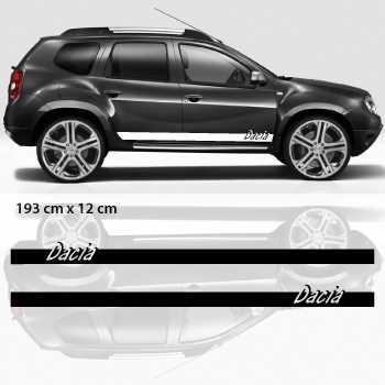 Car side Dacia stripes stickers set