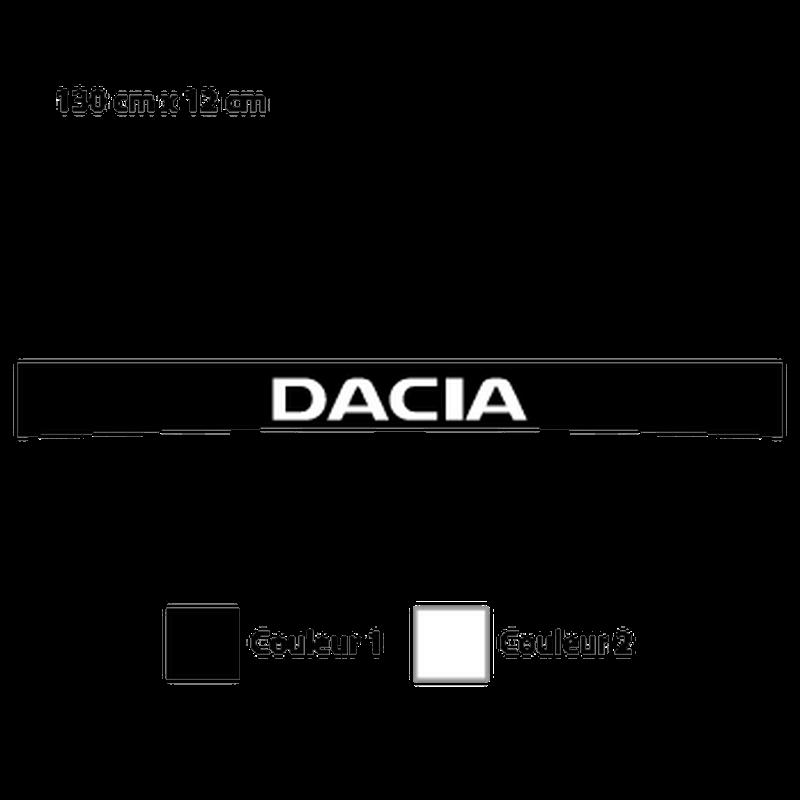 Dacia Sunstrip Sticker - 2nd model