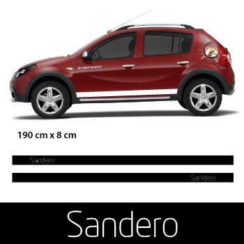 Car side Dacia Sandero logo stripes stickers set