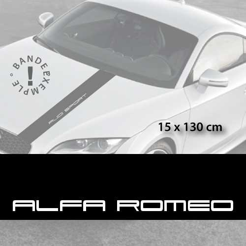 Alfa Romeo car hood decal strip