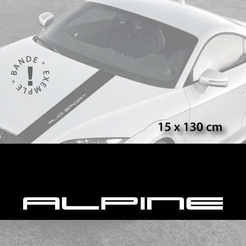 Alpine car hood decal strip