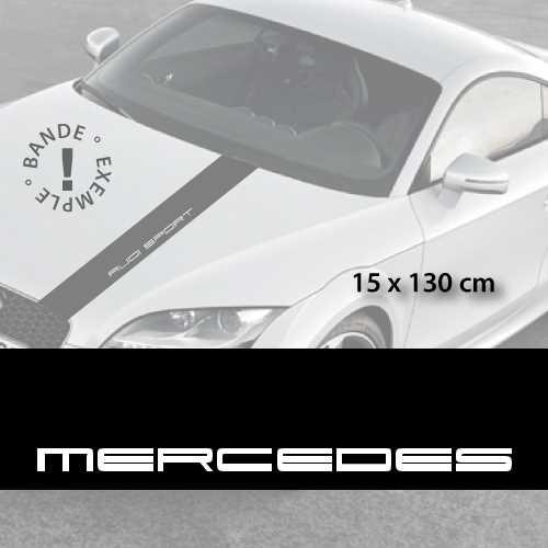 Mercedes car hood decal strip