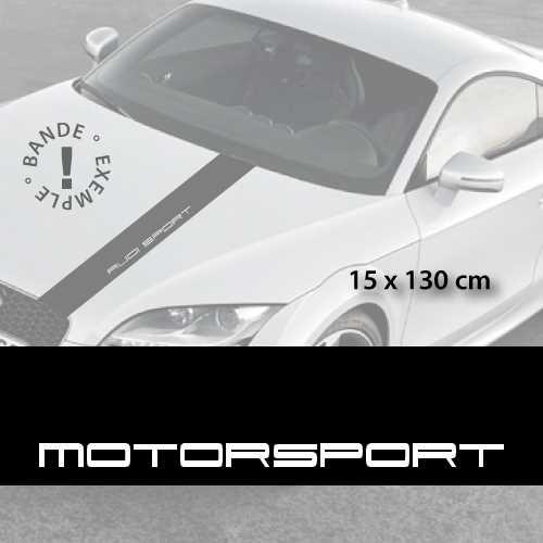 Motorsport car hood decal strip