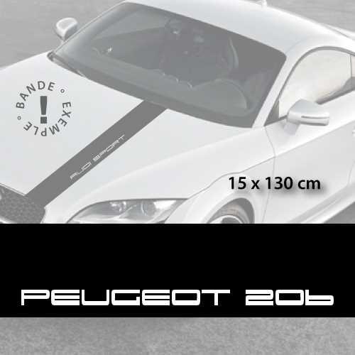 Peugeot 206 car hood decal strip