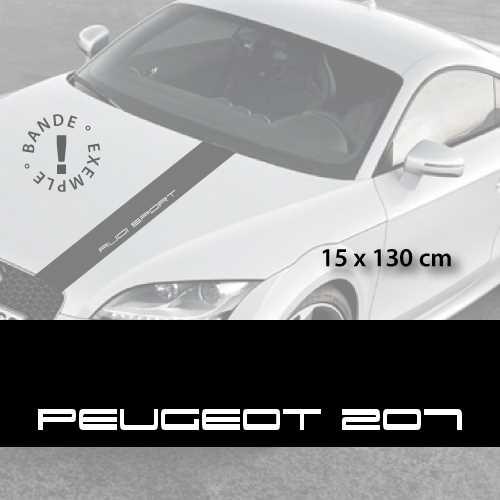 Stickers bandes autocollantes Capot Peugeot 207