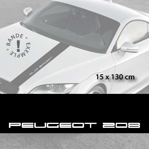 Peugeot 208 car hood decal strip