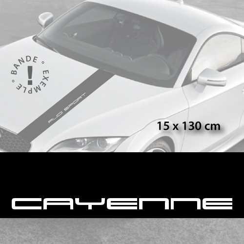 Porsche Cayenne car hood decal strip
