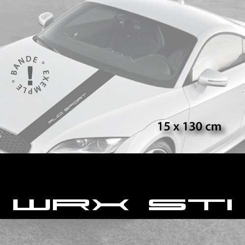 Subaru WRX STI car hood decal strip