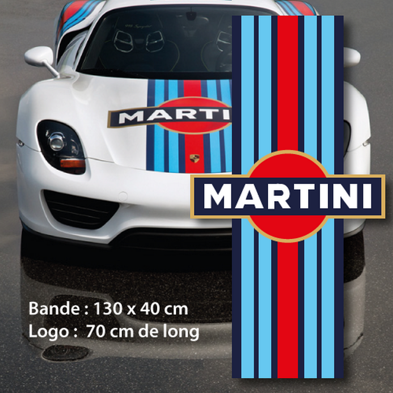 martini car hood strip decal. Black Bedroom Furniture Sets. Home Design Ideas