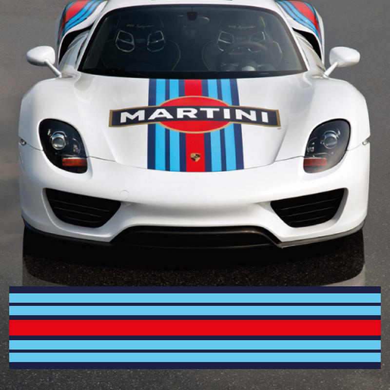 Martini car strip decal