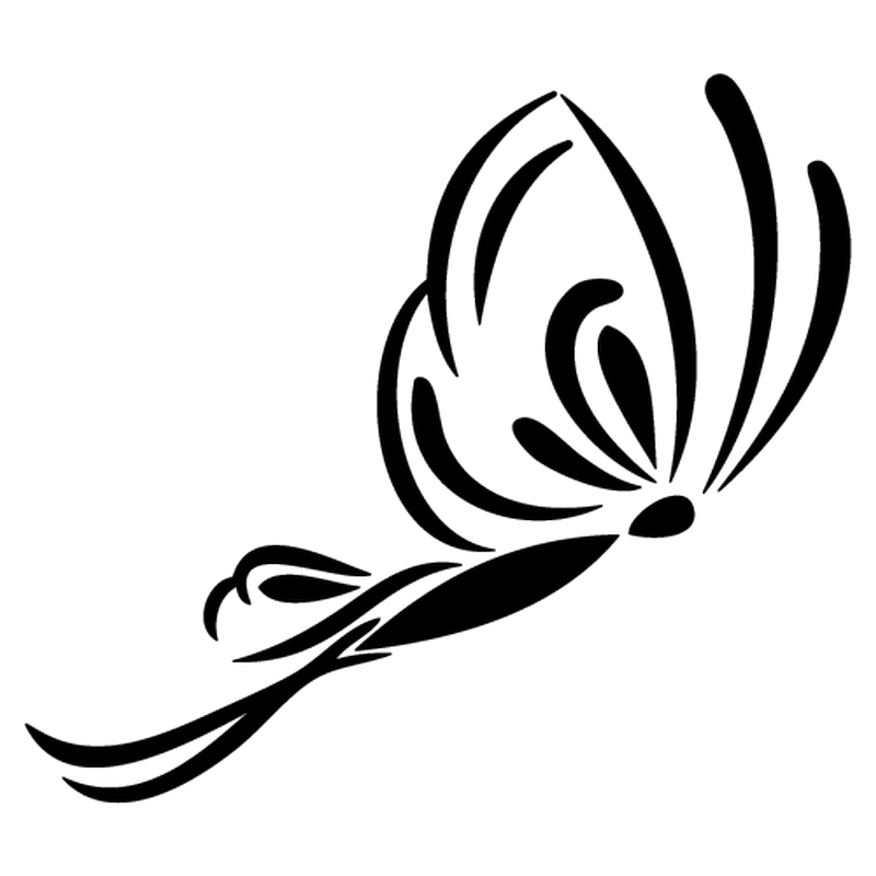 Papillon Butterfly decal