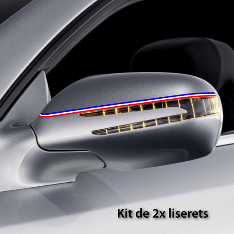 Kit Stickers Bandes Liserets Rétroviseurs France