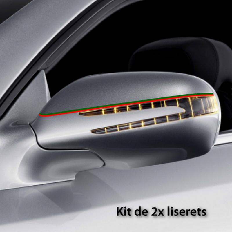 Portugal car rear-view mirror stripes decals set