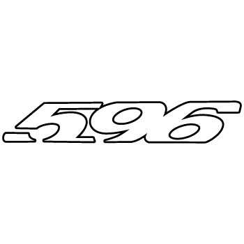 Look bikes 596 logo contour Decal