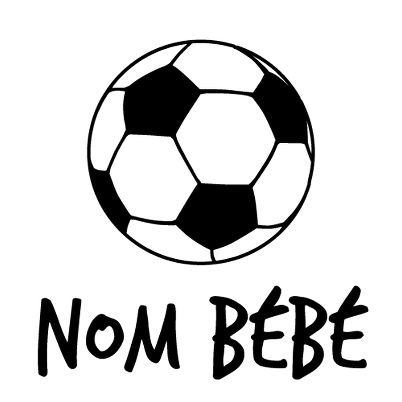 Sticker Baby An Bord Ballon De Football Name Zum Personalisieren