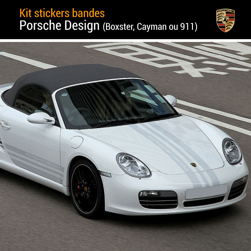 Kit Stickers Bande Porsche Design Complet