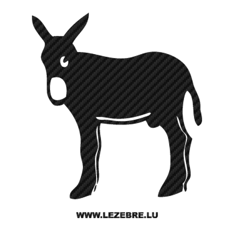 Catalan donkey Burro Carbon Decal