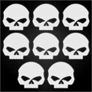 kit autocollants r fl chissants pour casque de moto harley davidson skull. Black Bedroom Furniture Sets. Home Design Ideas