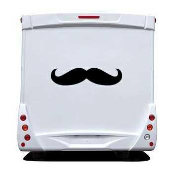 Sticker Wohnwagen/Wohnmobil Carstache Moutache