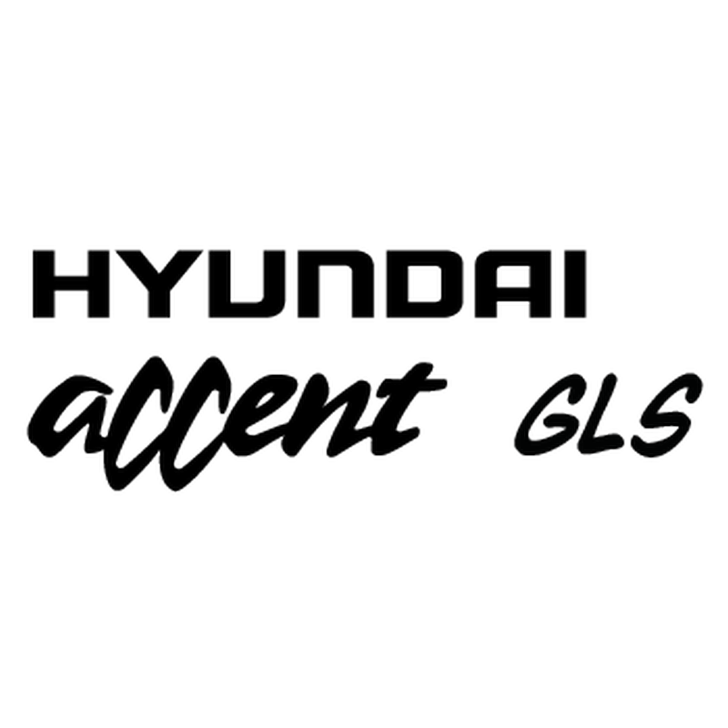 Hyundai Accent gls Logo Decal