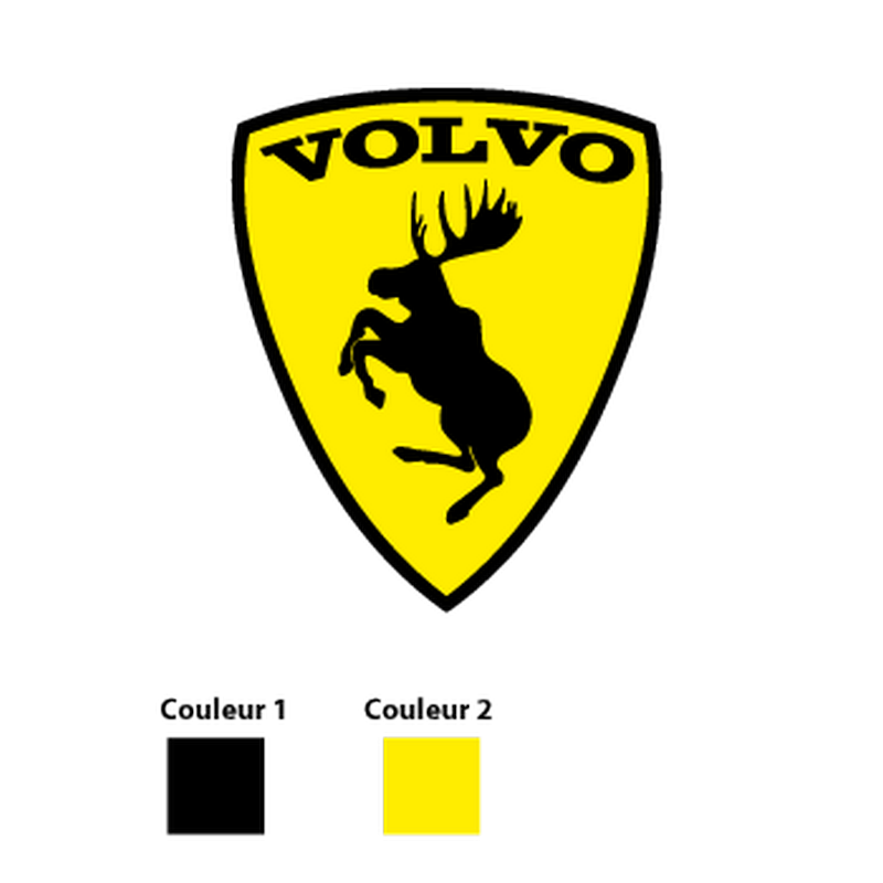 Sticker Volvo Prancing Moose