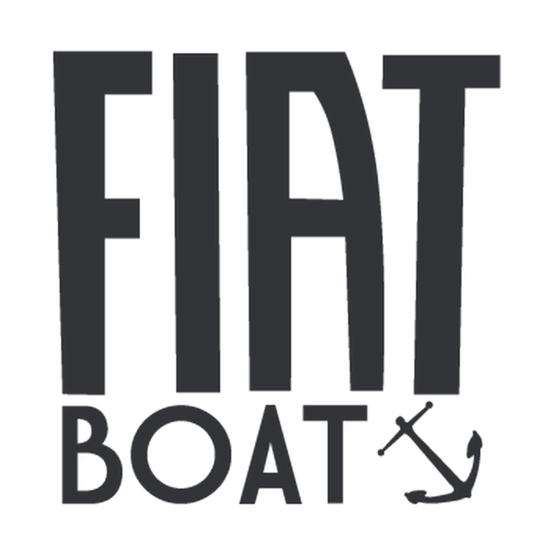Fiat Boat Logo Decal