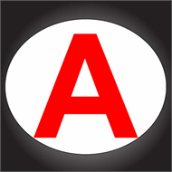 """A"" Young Driver Decal for motorcycle,"