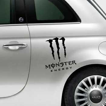 Monster Energy Fiat 500 Decal
