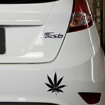 Sticker Ford Fiesta Feuille de Cannabis