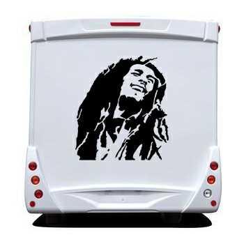 Bob Marley Camping Car Decal