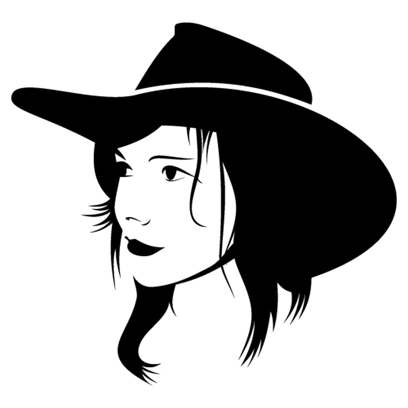 Cowboy girl decal