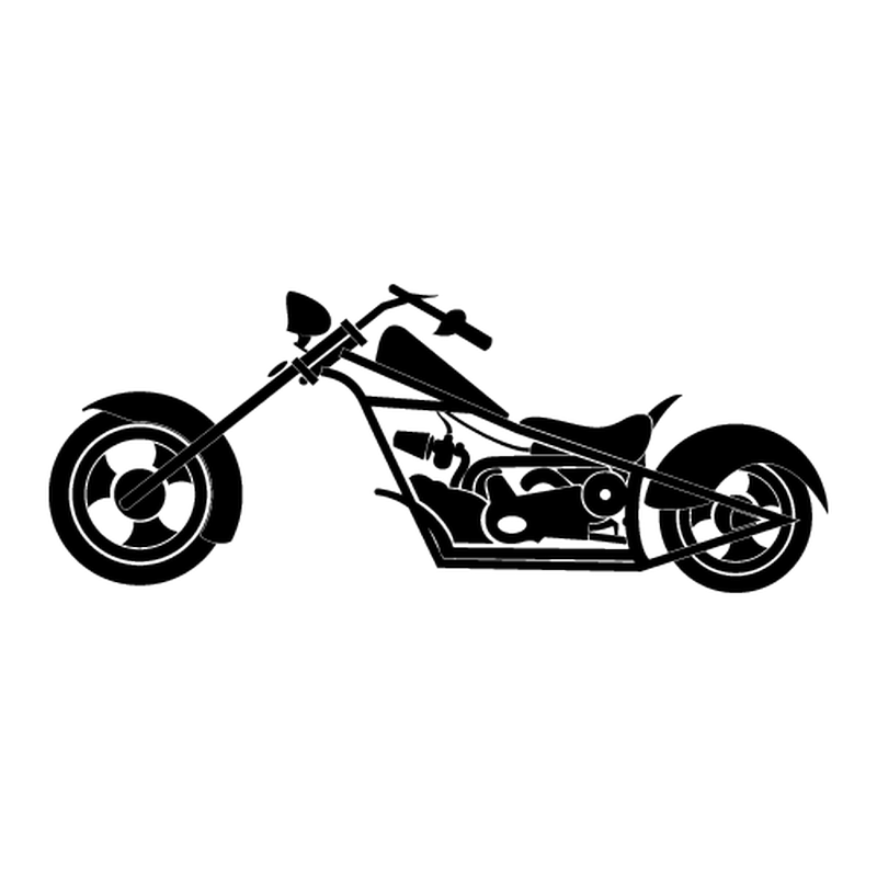 Motorcycle silhouette decal [CLONE]
