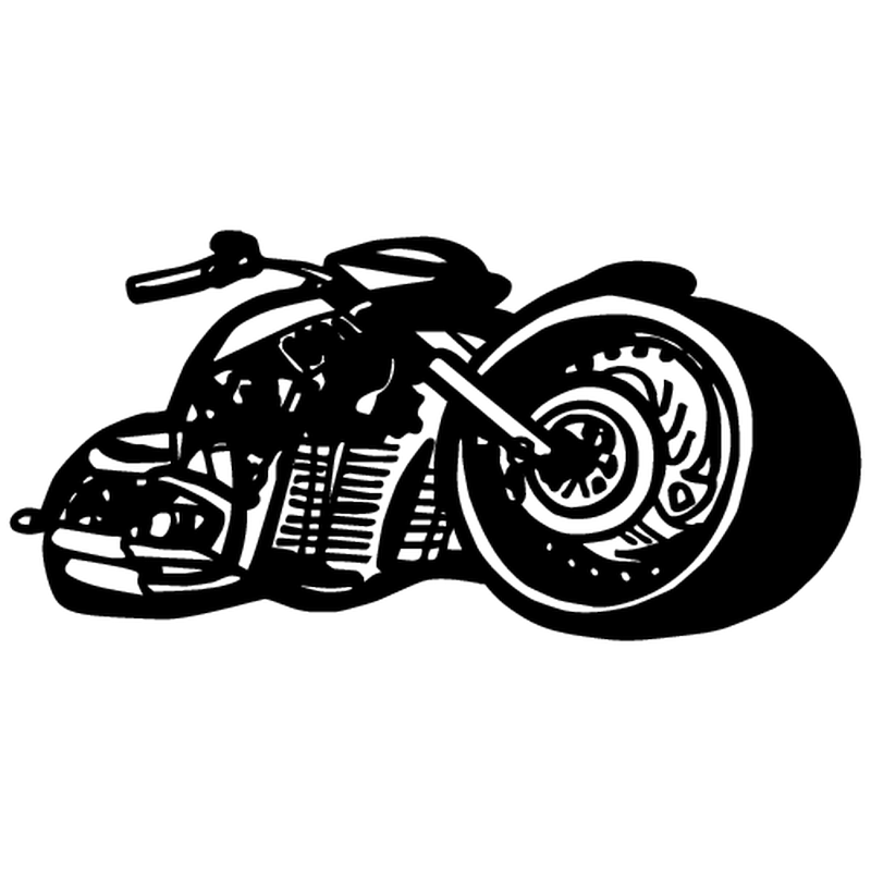 High speed motocycle decal