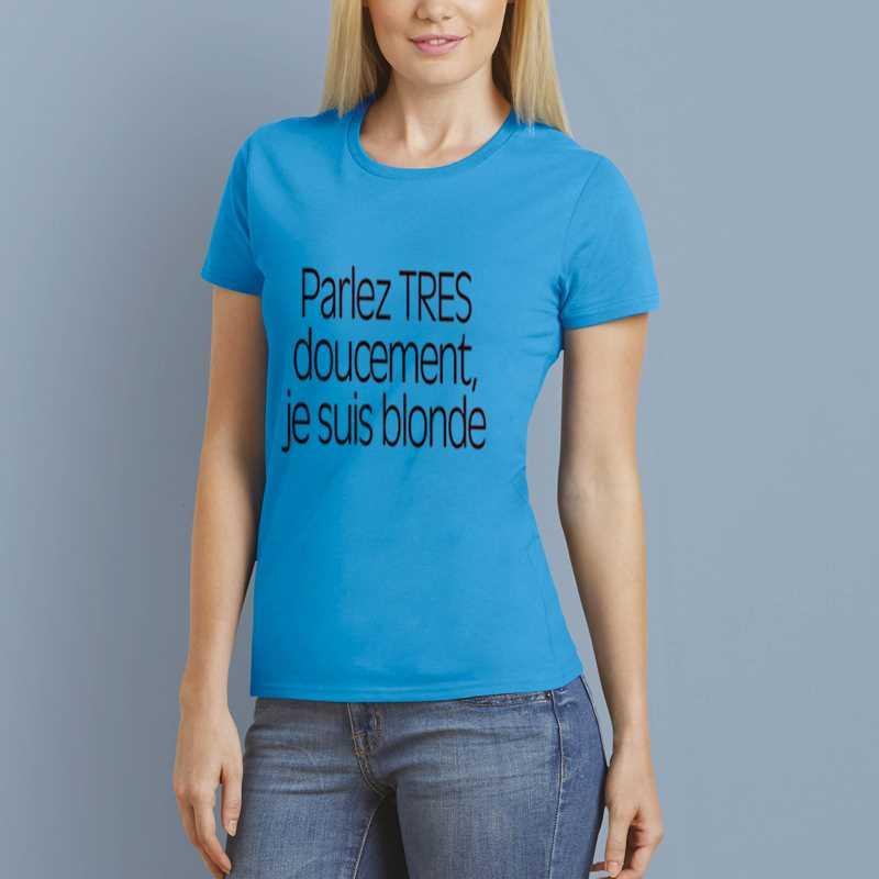 T-Shirt Doucement blonde
