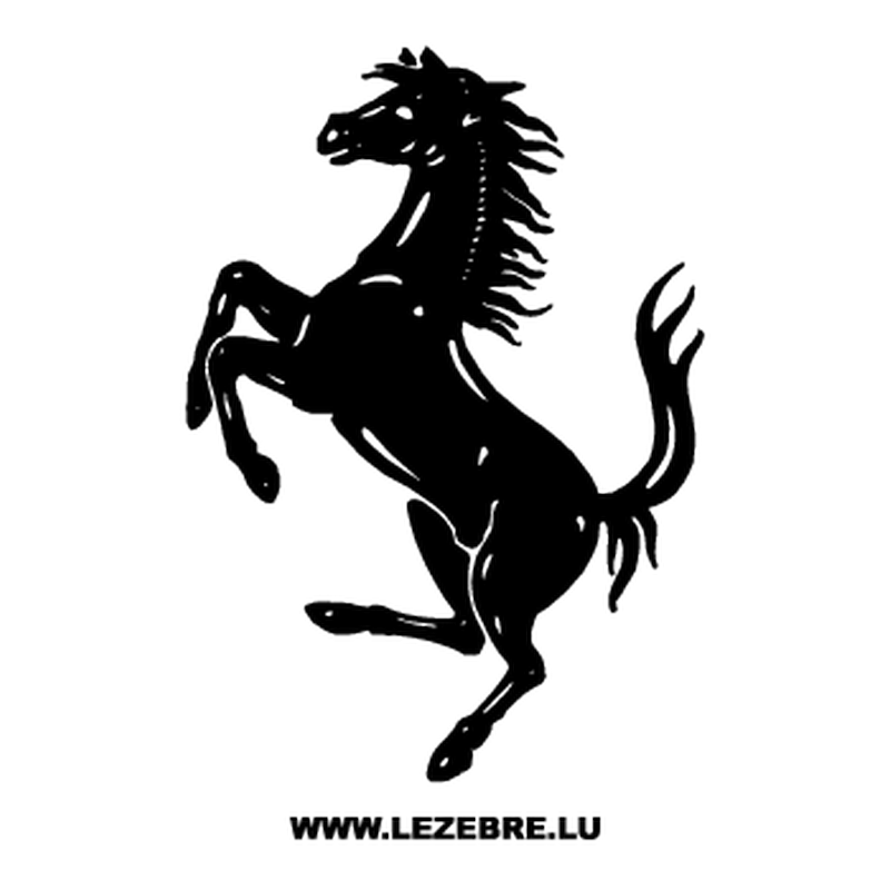 Ferrari Logo Horse Decal