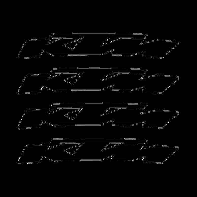 KTM rim decals set