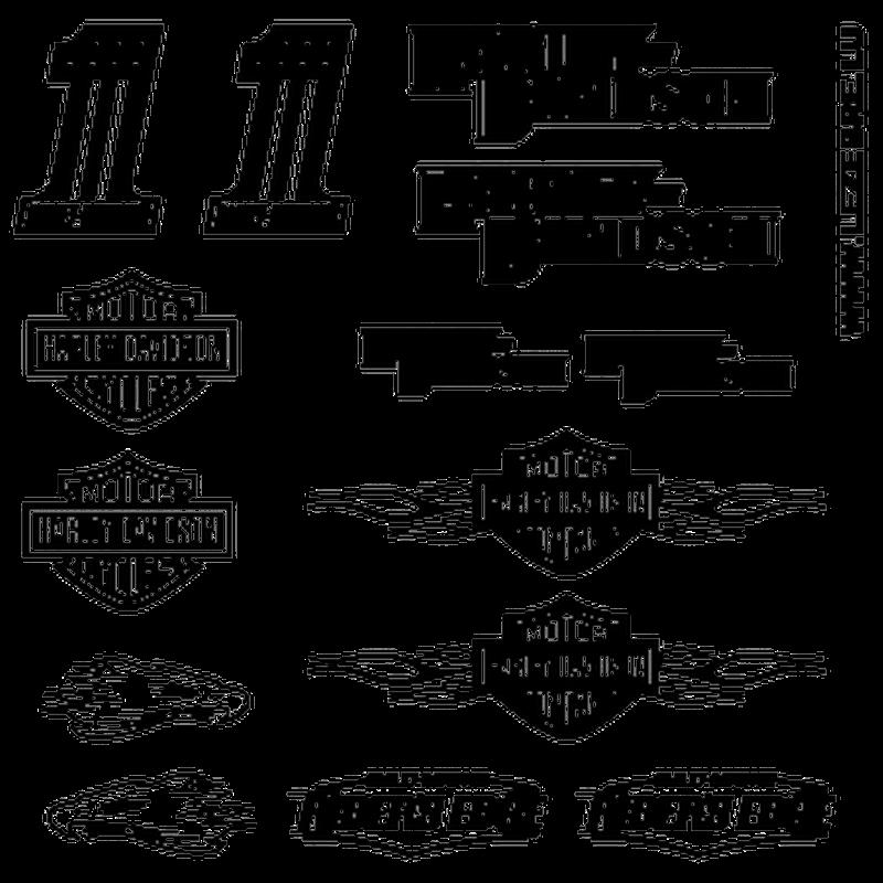 Harley Davidson Decals set